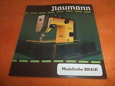 alte DDR Werbung Reklame Messe Prospekt TEXTIMA Nähmaschine Naumann 8014/41 1984