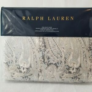 New Ralph Lauren Full/Queen Duvet Cover- MARIELLA PAISLEY Grey