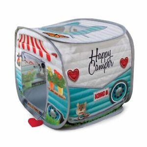 KONG Play Spaces Camper Van Cat Kitten Hideout Pop Up Tent Catnip Large
