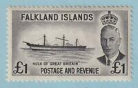 FALKLAND ISLANDS 120  MINT NEVER HINGED OG ** NO FAULTS EXTRA FINE!