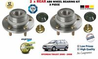 FOR HYUNDAI TRAJET 2.0 2.7 V6 CRDi 2000-2008 2X ABS REAR WHEEL BEARING HUB KITS