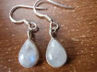 Moonstone Teardrop 925 Sterling Silver Dangle Earrings Corona Sun 619cm