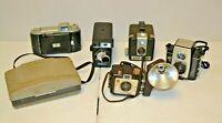 Lot of 6 Vintage Film Cameras UNTESTED FOR PARTS Kodak Polaroid Brownie