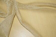 XXL Netzstoff Fischernetz elfenbein-beige Kleiderstoff Dekostoff #0510