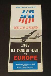 KLM Airlines USSA US Ski Assoc 1965 Jet Charter Flight 1965 Vintage Brochure