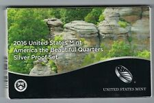 USA: America the Beautiful Quarters Silver Proof Set 2016, Silber