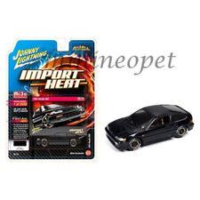JOHNNY LIGHTNING JLCP7169 1991 HONDA CRX 1/64 DIECAST CAR CUSTOM GLOSS BLACK