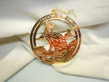 "Cornish Rex Cat 3"" Brass Ornament-Usa-Gift Folder Nice"