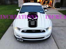 Ford Mustang Racing Hood Punisher Stripes Decal  Cobra Convertible Sticker
