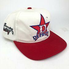 Vintage Detroit Stars Professional Baseball Snapback Hat Red White Blue Spellout