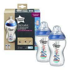 Tommee Tippee  Boys  Decorated 340ml Feeding Bottles Pack of 2  Age 0m+ BPA free