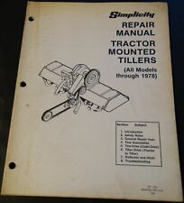 SIMPLICITY TRACTOR MOUNTED TILLERS BEFORE 1978 SERVICE MANUAL TP 570 (315)