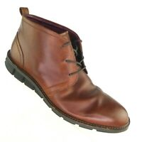 ECCO Men's Boots EU 46/ US 12-12.5 Chukka Brown Leather Lace Up