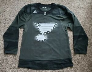S:50 Adidas St Louis Blues Green Military Appreciation Authentic Hockey Jersey