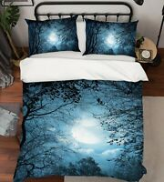 3D Forest Night Moon Branches KEP132 Bed Pillowcases Quilt Duvet Cover Kay