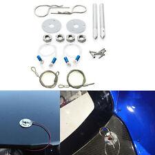 "DIY Car  Muscle 3/16"" Chrome Hair Pin Style Hood Pin Set W/ Lanyards 1/2"" Studs"