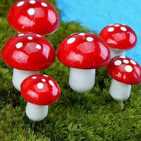10x Miniatur Pilz Fee Garten Ornament Puppenhaus Topf am DIY bes Handwerk D P1I9
