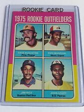 1975 Topps #616 Rookie Outfielders/Dave Augustine/Pepe Mangual RC/Jim Rice RC