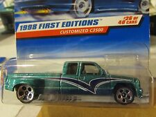 Hot Wheels Customized C3500 1998 First Editions Green