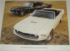 1969 Ford Mustang 428 SCJ Convertibles car print