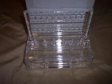 Acrylic Jewelry Organizer, Removeable Earring Rack, Drawer, 6 ring Holders