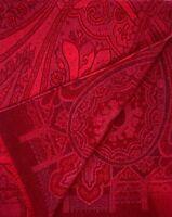 Etro Men's Red Paisley Jacquard 100% Cashmere Scarf $680