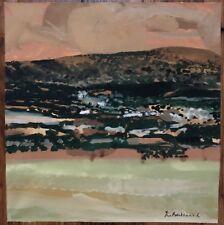 Tableau Moderne Expressionnisme Espagne Castille Peinture signée J C Bertrand.