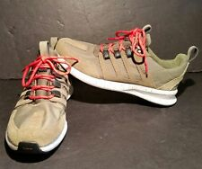 Adidas SL Loop Runner Trail Shoes C77025 Size 9 1/2  Green With Red Laces