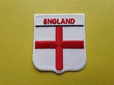 WORLDWIDE FREEPOST COUNTRY SHIELD FLAG SEW & IRON ON PATCH - ENGLAND UK