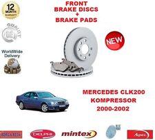 FOR MERCEDES CLK 200K KOMPRESSOR 2000-2002 FRONT BRAKE DISCS SET + DISC PADS KIT