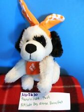 Sound N Light White and Black Dog With Orange Bunny Ears plush(310-2630)