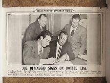 1948 ICN Display Poster Joe DiMaggio New York Yankees signing Bucky Harris