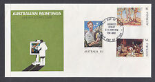 1974 Australian Paintings Set On Fdc. Getting Very Hard To Find.