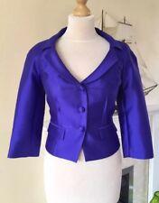LK Bennett BNWT Cobalt Blue Silk & Wool Blend Special Occasion Jacket , Size 6
