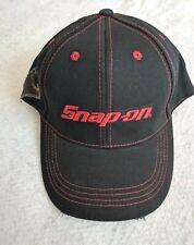 Snap On Tools Hat Baseball Cap Black New Adjustable Red Logo Distressed