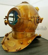 Vintage Boston Divers Helmet Brass Scuba Diving Helmet Mark V Deep Sea Divers