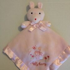 Gerber Beginnings Fluffy Bunny Pink Security Blanket Baby Squeak Lovey Rabbit