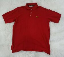 Slazenger Mens Red Vintage Masters Augusta National Golf Shop Polo Shirt Size XL