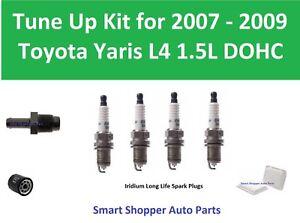 Tune Up Kit for 2007-2009 Toyota Yaris Spark Plug, Air Filter, Oil Filter, PCV V