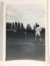 Vintage BW Real Photograph #AL: Tennis Match