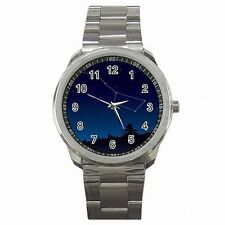 Big Dipper Major Constellation Star Gazer Astronomy Stainless Steel Watch