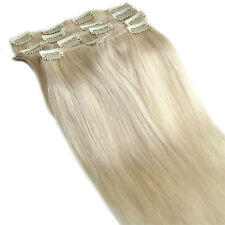 Clip In Extensions Real Remy Human Hair 16 Inch 80Gram Brown Blonde Black