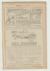 Burnley V Newcastle United League Division One 1923/24 - Very Rare Excellent