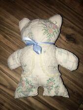 Handmade Memory Bear Cross-stitch Needlepoint  Sampler White