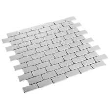 métal CARRELLAGE mosaïque mosaïque Metalique acier inox 2,3 x 4,8 cm