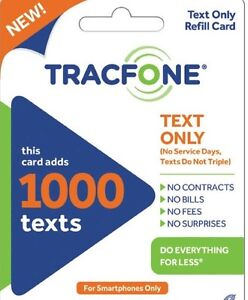 TracFone Smartphone Only Plan - 3000 Texts Must Have Active Phone Number