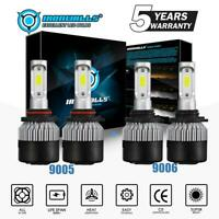 9006+9005 LED Headlight Kit 3600W 540000LM Hi-Lo Beam Combo Lamp Power 6000K HID
