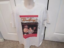 Rare Signed Wrestling at the Chase T Shirt-Larry Matysik & Mickey Garagiola-XL