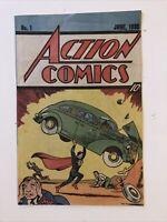 Action Comics June 1938 #1 Superman 1st Appearance 1987 Reprint Nestle Quik