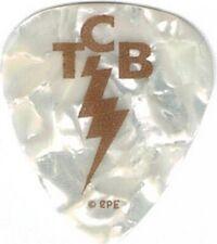 "Elvis Presley TCB Logo Plastic Guitar Pick [Pack of 2 - White - 1.25"" x 1""]"